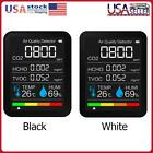 CO2 Meter Temperature Humidity Detector Portable Air Quality Monitor TVOC HCHO