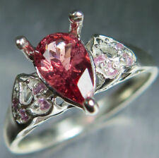 Anelli di lusso con gemme rosse misura anello 7
