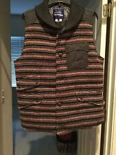 JUNYA WATANABE /COMME DES GARÇON-Men's Multicolored Wool Striped Down. SIZE L