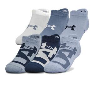 Under Armour Womens Essentials No Show Socks Blue Sports Gym Breathable