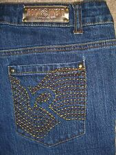 ROCAWEAR Flare Stretch Denim Jeans Womens Size 5 x 32.5