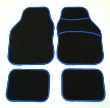Black & Blue Car Mats For Fiat Punto Brava Panda Stilo