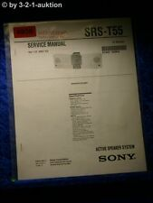 Sony Service Manual SRS T55 Active Speaker System (#4936)