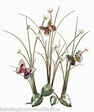 WALL ART - BUTTERFLIES IN FIELD OF FLOWERS WALL SCULPTURE - BUTTERFLY WALL DECOR