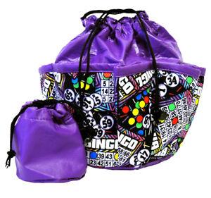 Bingo Card Purple 10 Pocket Bag