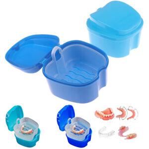 Hanging Net Denture Bath Box Cleaning Teeth Case Dental False Teeth Storage JTU