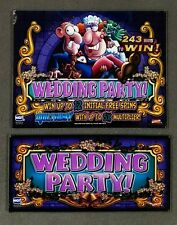 "IGT 19"" I-Game WEDDING PARTY  Top & Belly Glass Set Slot Machine Set"