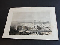 1850's Chromolithograph-Ravines in the bed of the Ancient Lake,CA-Art Print.RARE