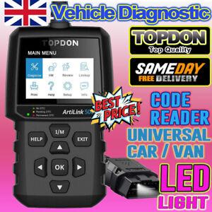 For Vauxhall Corsa Fault Code Reader OBD2 Engine Diagnostic Tool Service Scanner