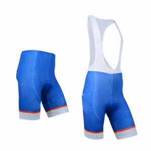 Men's Padded Cycling Shorts / Bib Shorts Blue Cycle Road Bike Bib Shorts Coolmax