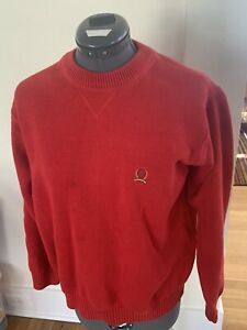 Vintage Tommy Hilfiger Sweater Mens Medium M Red Knit Warm Comfortable