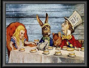 Mad Hatter Tea Party Alice In Wonderland  Wall Art Print