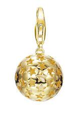 Esprit Damen Charm ESCH91455B000 ES-Sterne in 925 Silber vergoldet poliert neu
