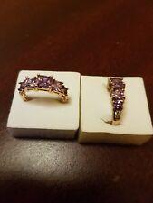 3.28CT ALEXANDRITE DIAMOND AND 14K YELLOW G/F RING.. M-O-Q-S-T - U-V .UK