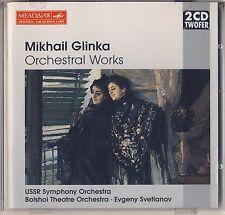 Glinka - Svetlanov: Orchestral Works ( 2 CDs, Melodiya) Like New