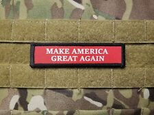 MAKE AMERICA GREAT AGAIN 1x4 Red Military Morale Hook Patch Donald Trump MAGA