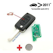 Clé électronique à programmer Citroen C2 C3 C4 C5 3 boutons avec rainure