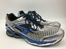 Mizuno Wave Creation 17 Silver Blue Athletic Running Shoes Men's US Sz 15