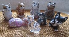 **LOT OF SMALL CERAMIC CAT FIGURINES** Herend Hungry, Suzanne Le Good