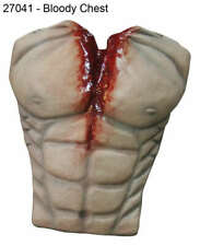 Halloween Costume - Men Bloody Chest - Creepy Scary Death Slay Torso - Latex
