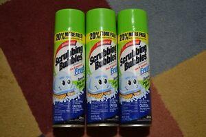 3 Lot Bathroom Soap Scrubbing Bubbles Mega Shower Foamer Aerosol Spray Can FRESH