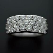 2.10CT Round Cut CZ Women's Wedding & Anniversary Band In 925 Sterling Silver