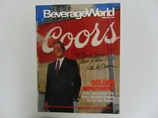 """""""Molson Coors"""" Chairman Pete Coors Hand Signed Magazine Cover Todd Mueller Coa"""