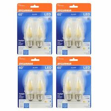 Sylvania LED B10 60W Medium Base Dimmable Daylight 5000K Light Bulb (8 Pack)