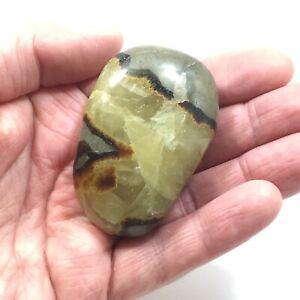SEPTARIAN Pebble 91g  Natural Polished Septerye Calcite Aragonite 61mm  S0220