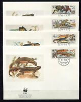 S3716) Czechoslovakia 1989 MNH Wwf, Amphibians 4v FDC