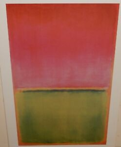 MARK ROTHKO GREEN, RED AND ORANGE LARGE POSTER