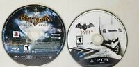 Playstation 3 PS3 Game Lot Batman Arkham City and Arkham Asylum Loose Discs