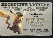 Detective Pikachu MAGNET License ID Drivers Pokemon Movie Ryan Reynolds