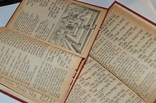 New listing 2 Jewish Vintage prayer books in Hebrew and German Red
