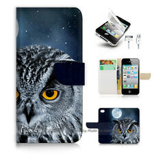 ( For iPhone 5 / 5S / SE ) Wallet Case Cover! Owl P1491