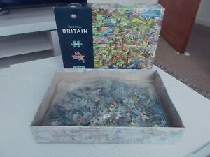 Beautiful Britain Jigsaw Puzzle - Gibsons G7080 - 1000 Piece - Sealed inside