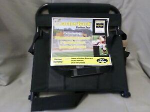 "Bleacher Back Portable Stadium Seat GCI Outdoor Black 2"" Padded Seat"
