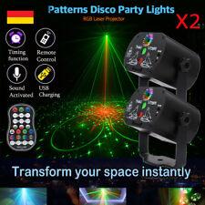 2stk RGB LED 240 Muster Laser Projektor USB Party DJ Disco Bühnenbeleuchtung DHL