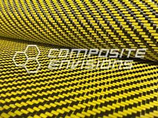 "Carbon Fiber / Yellow Dyed Fiberglass Fabric 2x2 Twill 50"" 3k 12.53oz/425gsm"