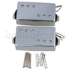 Set of 2 Silver Humbucker Double Coil Pickups Without Frame for Electric Guitar