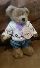 Boyds Plush Bear Edmund T. Bear stuffed animal complete with tag/clothes toy Euc