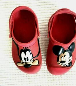 Crocs DISNEY MICKEY MOUSE RED Clogs Sandals  Kids Size C10 / C11 Clogs