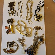 assorted silver and gold tone necklaces A lovely job lot of 10
