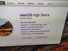 Apple Mac mini A1347  Desktop Mid 2010 2.4 GHz 8 GB RAM 320 HDD