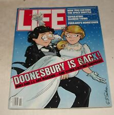 October 1984 LIFE MAGAZINE DOONESBURY CARTOON Cover by TRUDEAU SPACE SHUTTLE
