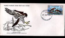 Enveloppe 1° Jour WWF (ILE MAURICE / OCEAN INDIEN) OISEAU RAPACE en 1978