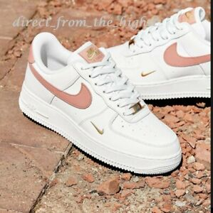 Nike Air Force 1 07 White Rust Pink Womens Trainers *Limited Availability*