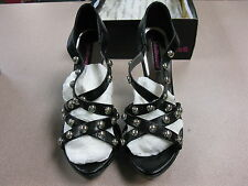 DOLLHOUSE Women's Platform High Heel Black shoes. size 11(caitlyn)