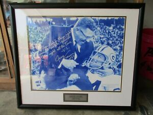 Green Bay Packers Lombardi's Last Game, Carried off by Jerry Kramer Sign Photo