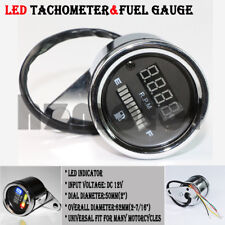 LED Digital Tachometer &Fuel Gauge for Harley Davidson XL XLH Sportster 1200 883